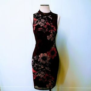 Sleeveless Floral Bodycon Dress